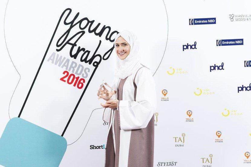 Sports Award - Emirati figure skater, Zahra Lari