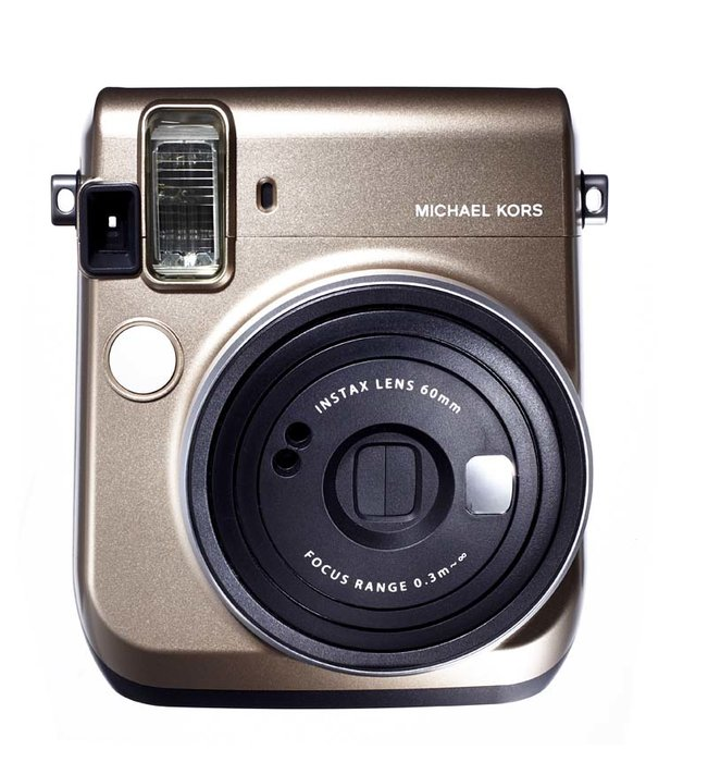 Instax Mini 70 camera, Michael Kors X Fujifilm [Dhs550] - The Polaroid meets social media selfie with this hybrid Instax camera that takes actual photos…Yes, that is still a thing! michaelkors.com