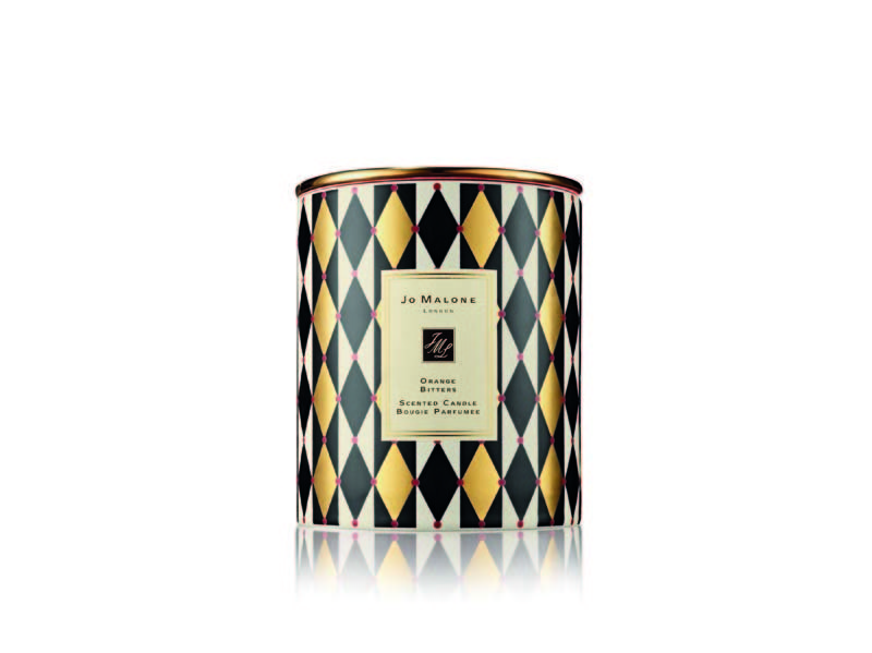 Orange Bitters Scented Candle Jo Malone [Dhs975] - A masculine, limited-edition festive treat with crisp mandarin and bitter orange, prune and a sandalwood base. jomalone.com