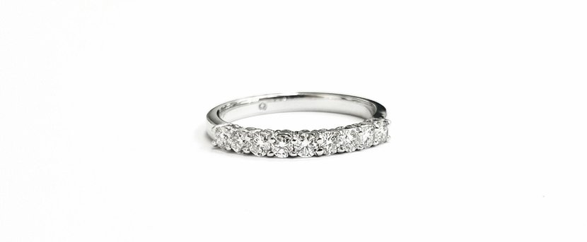 0.5ct Bespoke diamond ring in platinum, Dhs3,400