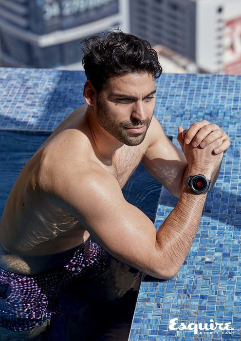 Swimshorts, Dhs1,920, Hermes; Samsung Gear S3 Frontier smart watch, Dhs1,399.