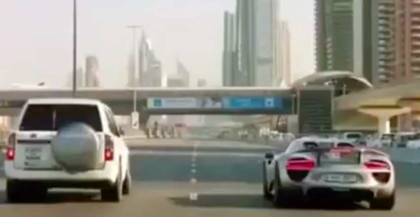 Porsche 918 Spyder, Sheikh Zayed Road, Nissan Patrol, The Grand Tour, Bugatti veyron, UAE, Dubai, Bugatti, Porsche