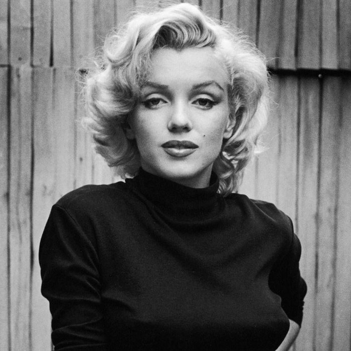 Marilyn Monroe - No name is as immediately synonymous with female beauty than Marilyn Monroe, the 1950s screen siren whose glamorous public life obscured an often tragic private life. Despire playing the 'dumb blonde' stereotype demanded by the era, off camera she was integral in building her own star power and in 1954 founded her own film production company because she was unhappy with the derisory contract offers from major studios.