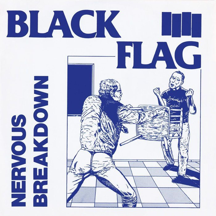 MUSIC: Black Flag / RECORD: Nervous Breakdown (1980) / ART: Raymond Pettibon / ARTWORK: Drawing