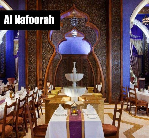 While some restaurants use DRW to offer a thinned out version of their menus as a sample of what they can do, Al Nafoorah's Arabic offering is plentiful. Cold mezzeh, hot mezzah, grilled fish, shish taouk, mouhalabieh, and Ashta bil Asal (nuts with drizzled honey), the difficulty is not ordering too much. / Al Nafoorah, Jumeirah Zabeel Saray, The Palm.