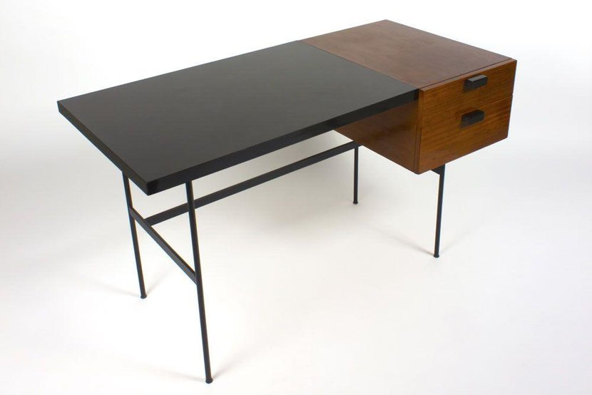 Desk (Circa 1954) by Pierre Paulin, presented by MCML Studio, Dubai  -  The late Pierre Paulin is famed for his work with Artifort in the 1960s, and interior design in the 1970s. At the time, his chair designs were considered very modern and unique and kick-started the successes of his work among the younger population. His pieces remain highly sought-after and collectible.