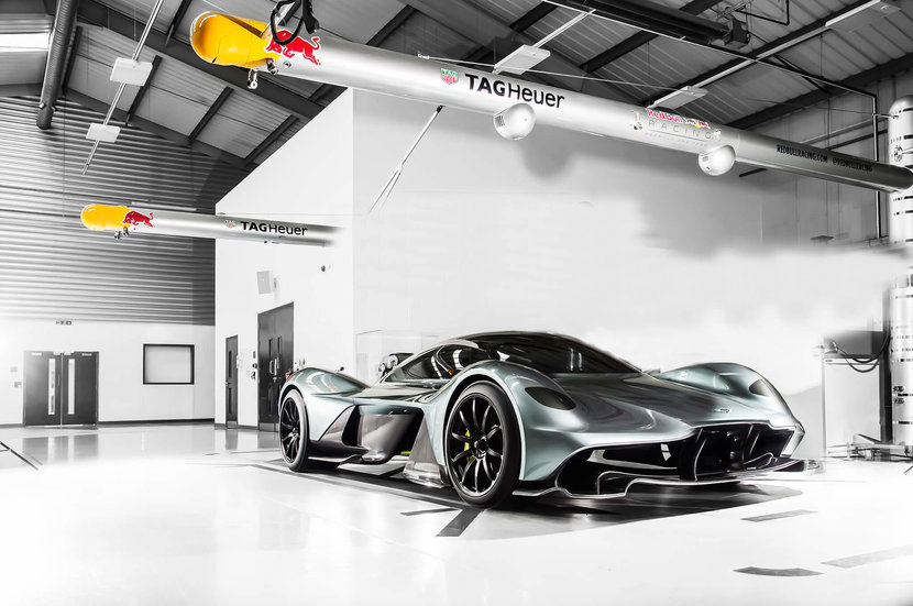 Aston Martin Valkyrie  -  The highly-anticipated collaboration between Aston Martin and Red Bull was revealed in the form of the Valkyrie hypercar: a 200mph, lightweight, mid-engined two-seater powered by a naturally aspirated Cosworth 6.5-litre V12. A mere 175 of these hypercars will be produced, between 99-150 as road cars and prototypes, and 25 track-only models. They have all been sold for around Dhs10 million so you'll just have to admire the blurry Valkyrie as it zooms by.