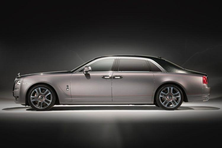 Rolls-Royce Ghost Series II  -  With a 'Diamond Stardust' paint finish containing 1,000 ethically-sourced ground diamonds, it's fair to say that the new Ghost was one of the head-turners at the Geneva Motor Show his year. The job took a team three engineers two months to develop. While no price was mentioned, the paint job alone would have cost around the price of a new car.