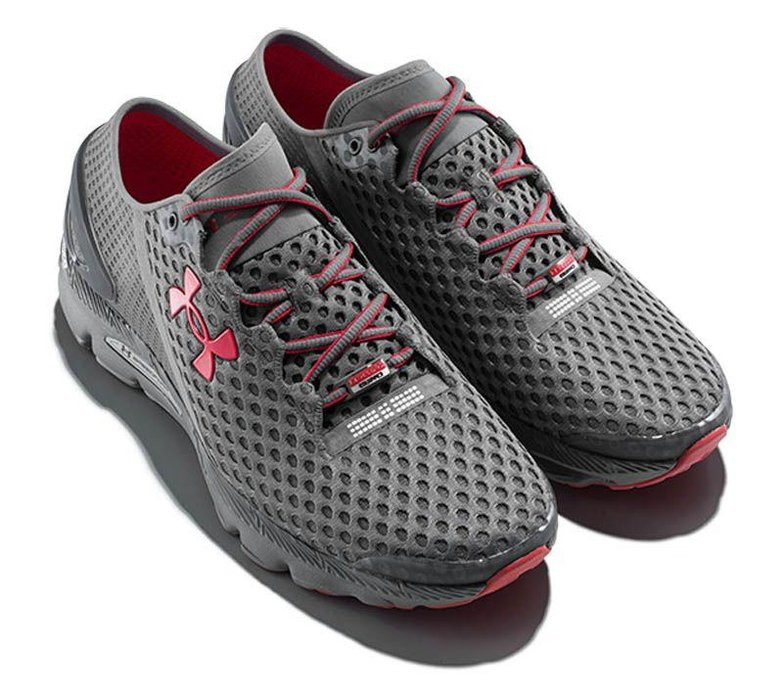 """The Trainers  -  Dubbed by Under Armour as """"thesmartest shoes ever made"""", the SpeedForm Gemini 2 Record might just live up to the hype. An embedded chip tracks running-related metrics from workout time to stride length. Data is uploaded via Bluetooth toUnder Armour's MapMyRun app,where you can view your stats. Dhs582, underarmour.com"""