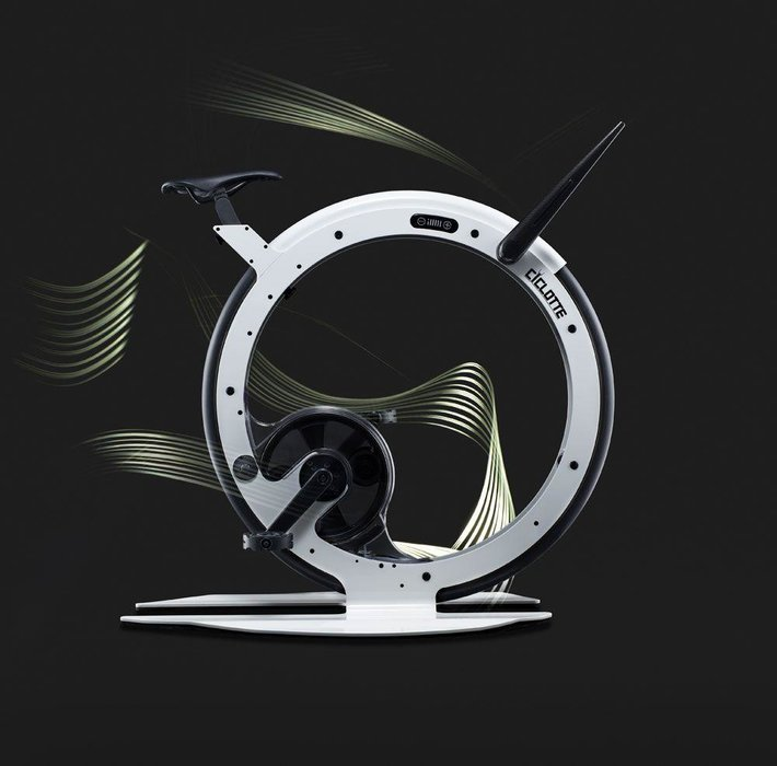 The Exercise Bike  -  If you've ever owned a traditional exercise bike you'll know that they're particularly good for drying clothes on. But the Ciclotte — a high-design, Italian-made, mono-wheel exercise bike — is one piece of home gym equipment you'll be pleased to put to proper use. Crafted from super-light carbon fibre and steel, this Ciclotte comes complete with an electromagnetic resistance system that replicates the feeling of the road under the wheels. [Price on request, ciclotte.com]