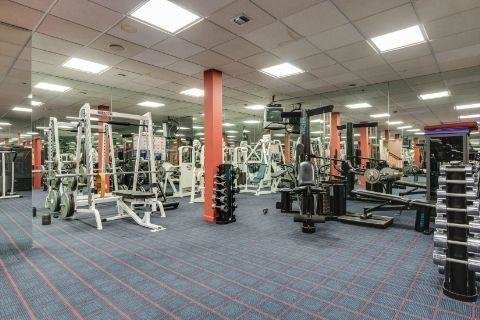 The gym is well-outfitted