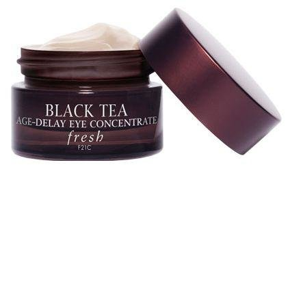 FRESH - Black Tea Age Delay Eye Concentrate - Crow's feet are the first spot to show aging, so it's worth investing in a product that minimizes the wrinkles. Fresh's eye concentrate brightens dark circles and is cooling to the touch. fresh.com