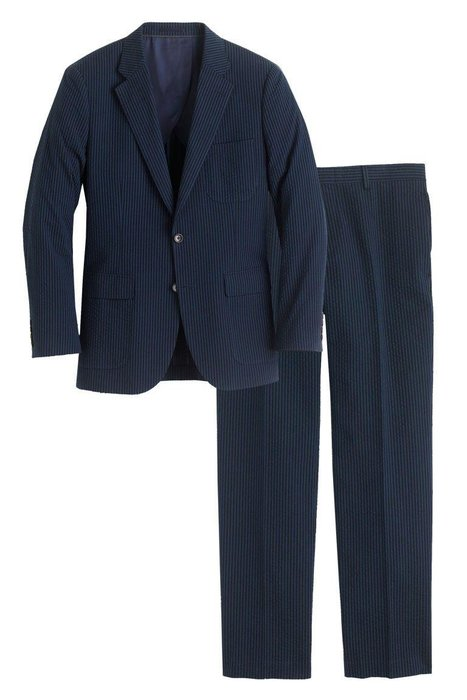 J.CREW  -  Ludlow Wide-Lapel Japanese Seersucker Suit  -  J.Crew's Ludlow silhouette looks sharp dressed up or down—great for any and all warm-weather occasions. jcrew.com