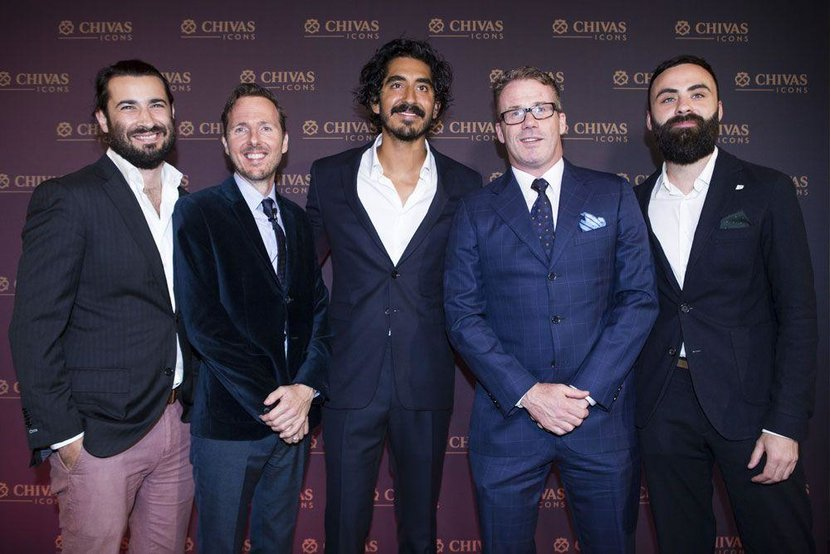 The Esquire team with Dev Patel: Matthew Baxter-Priest, Jeremy Lawrence, Andrew Wingrove and Daniel Higgins