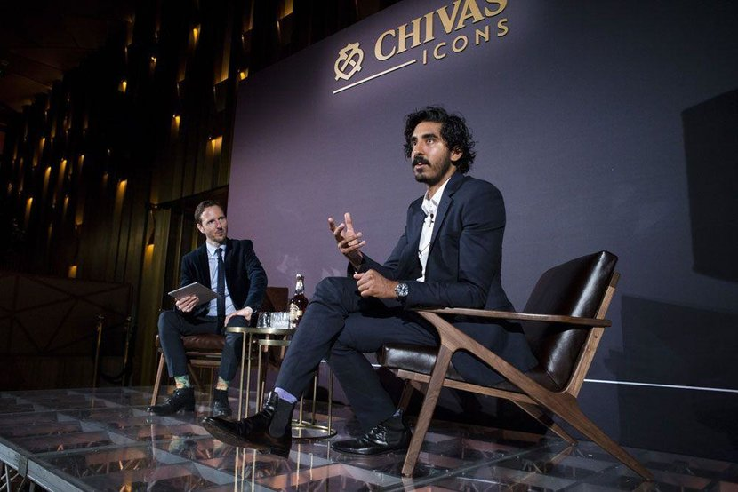 Dev Patel with Esquire's Jeremy Lawrence
