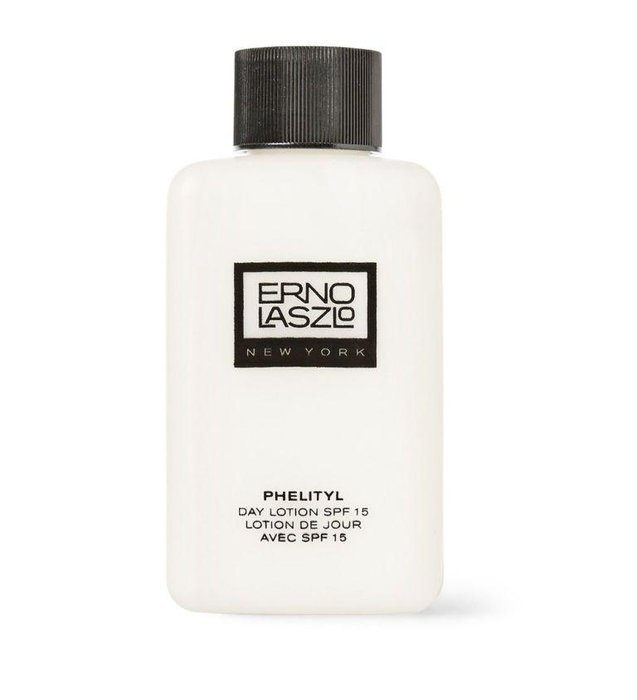 ERNO LASZLO -- Phelytil Day Lotion SPF-15 -- One way to guarantee that you're always wearing sunblock is to use a facial moisturizer that already sunscreen in it.