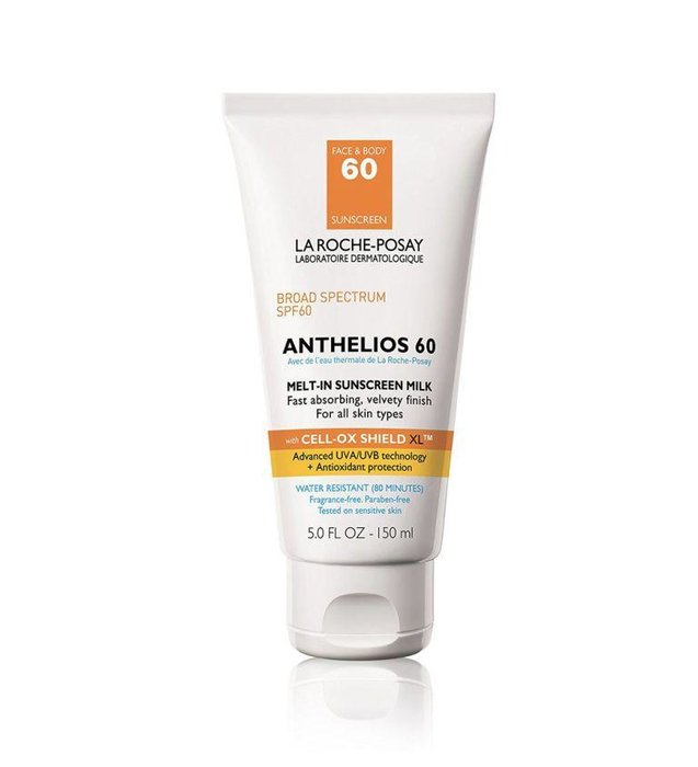 LA ROCHE-POSAY  --  Anthelios 60 Melt-In Sunscreen  --  If you're really concerned about keeping those rays at bay, La Roche-Posay's Anthelios 60 is like a beach umbrella in a bottle.