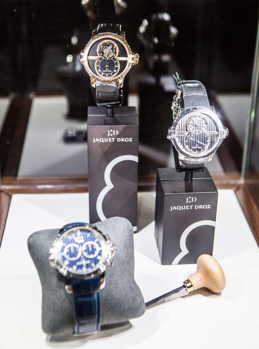 Displays from Jaquet Droz