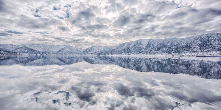 """THE MIRROR - """"Lake Yogo, called 'The Lake of Mirror,' sometimes reflects everything in front of you."""""""