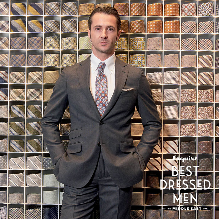 Mr Iclodean wears: suit, shirt and shoes, all Suitsupply. Shot at Suitsupply store, City walk, Dubai