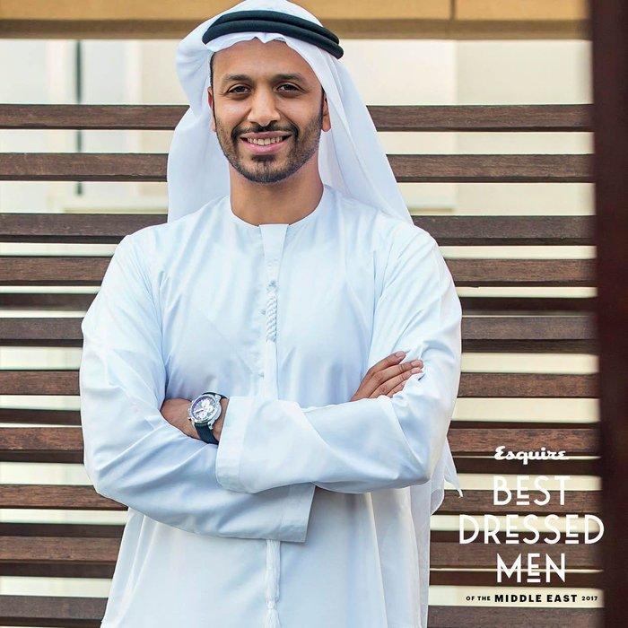 Mr Al Busaidy wears: watch, Chopard, shoes, Harry's of London, Kandora, Al Wajeha Tailoring. Shot at the ITP media rooftoop, Media City, Dubai