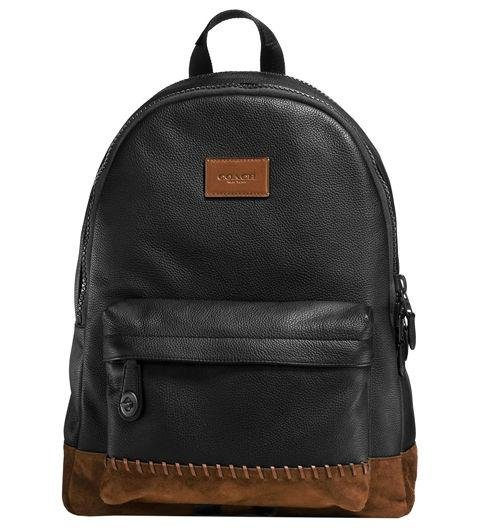A LEATHER BACKPACK  -  Tell dad he can only use his outdoor backpack for outdoor activities. This leather one is a much more grownup way to use the bag.  Rip and Repair Campus Backpack by Coach, coach.com