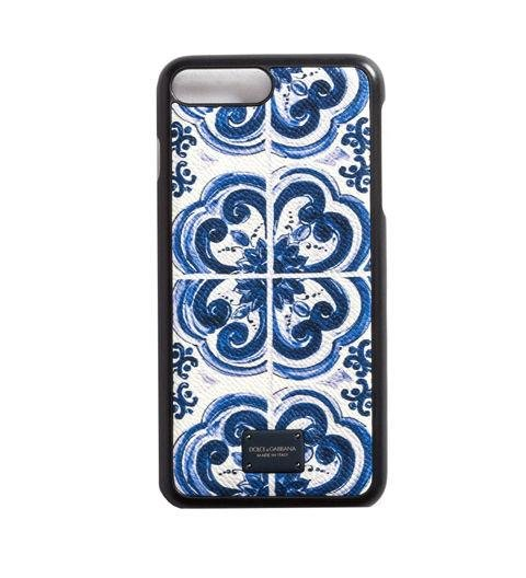 A PHONE COVER  -  The Sicilian majolica print on this iPhone case is making moves in menswear. A phone case is an easy way for dad to stay ahead of the style curve.  iPhone 7 Plus Cover by Dolce & Gabbana, dolcegabbana.com