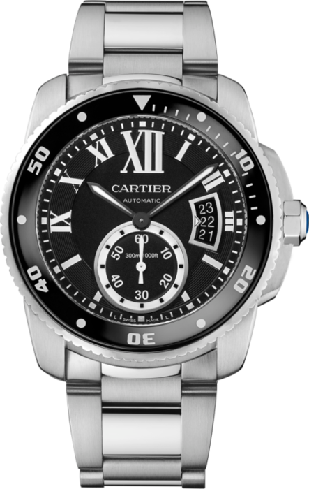 A WATCH - You can't go wrong with a timepiece in a classic shape. Calibre de Cartier Diver Watch by Cartier, cartier.com