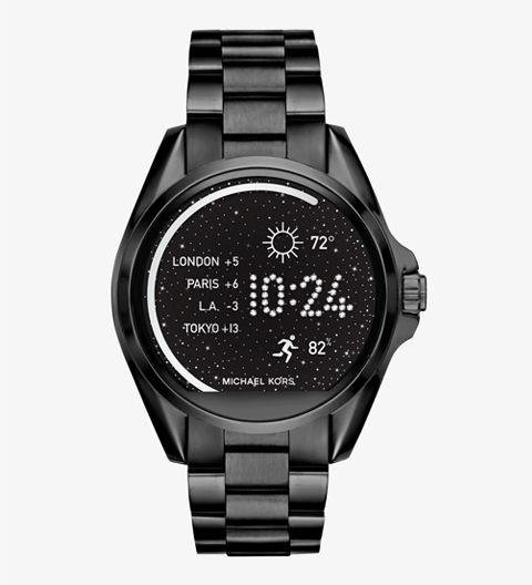 A SMARTWATCH - A smartwatch doesn't have to be nerdy. Take this Michael Kors one, for example. It looks and feels like a standard watch, but has bluetooth capabilities. Bradshaw Black Tone Smartwatch by Michael Kors, michaelkors.com