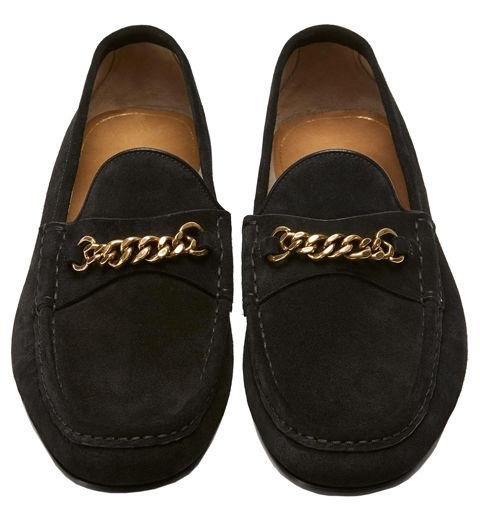 A PAIR OF LOAFERS - Sometimes a guy just wants to walk around in comfortable shoes and not give a damn about anything. Tom Ford's chain loafers are the greatest way to do just that. Suede York Chain Loafers by Tom Ford, tomford.com