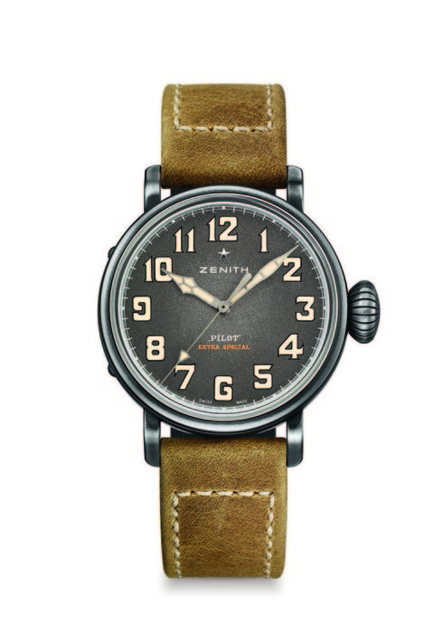Zenith Watch - This classic pilot watch with nude strap is the perfect casual wrist piece, Dhs22,700