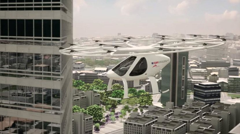 Flying taxi prototype CGI