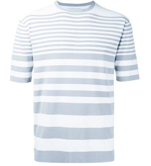 ESTNATION  -  Striped T-Shirt  -  Stripes don't have to be basic. Playing with the width adds some texture without making it too busy. -> farfetch.com