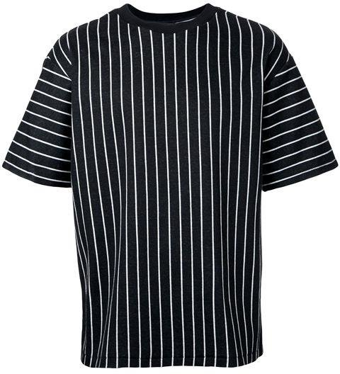 3.1 PHILLIP LIM  -  Striped T-Shirt  -  The silhouette of this T-shirt is slightly boxy—a subtle detail that makes it look more stylish and purposeful than a regular slim-fit tee. -> farfetch.com