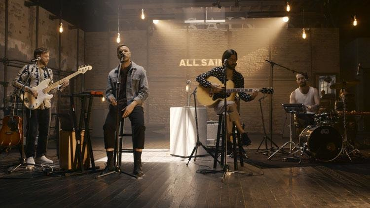 Imagine Dragons performing in the AllSaints Flagship store
