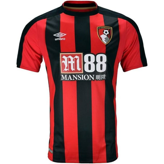 Bournemouth - It would be pretty hard for the Cherries to go too wrong with a classic combination like red and black, but unfortunately there's not much that separates this one from the rest of the pack. 6/10