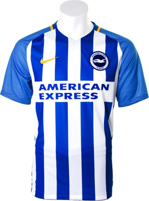 Brighton and Hove Albion - The devil is really in the detail with this kit as the gold trim and Nike tick add an element of much-needed class to the Premier League new boys. Not a bad attempt for a first outing. 7/10