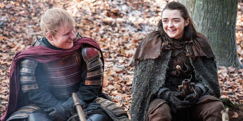 Game of thrones, Ed sheeran, Arya, Season 7, Tweets, Funny tweets, Funny, Reaction
