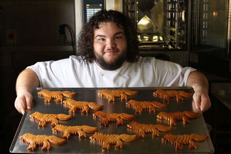 Game of thrones, Direwolf, Season7, Hot Pie, White Walkers, You know nothing John Dough, Bakery