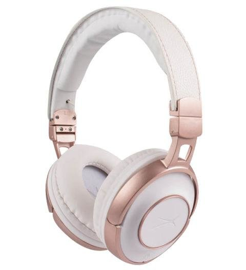 ALTEC LANSING - Bluetooth Touch Headphones - White and rose gold is an unexpected—and very cool—color combination. AED290. alteclansing.com