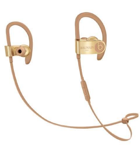 BEATS - Powerbeats3 x Balmain Wireless Earphones - Balmain's take on Powerbeats in-ears are as sartorially driven as a pair of earphones can get. AED920. apple.com