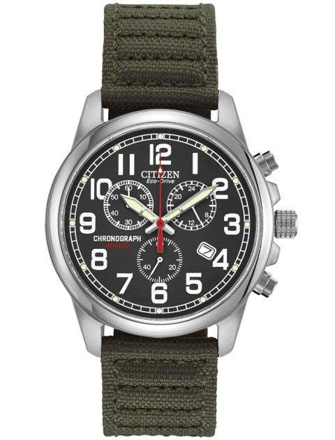 CITIZEN - Men's Strap - Citizen makes a ton of bracelet watches, but its nylon picks shouldn't be overlooked. This military-inspired one is a great casual alternative. citizenwatch.com