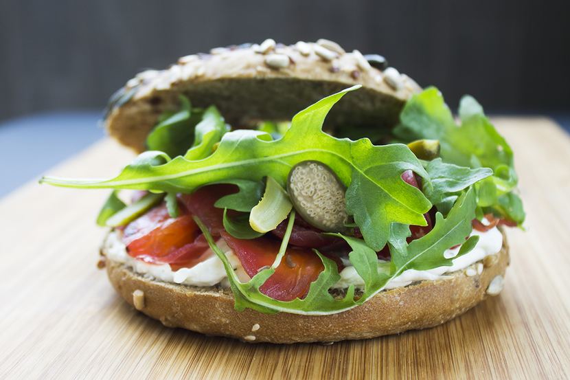 Gravlax Multigrain Bagel, Jones the Grocer