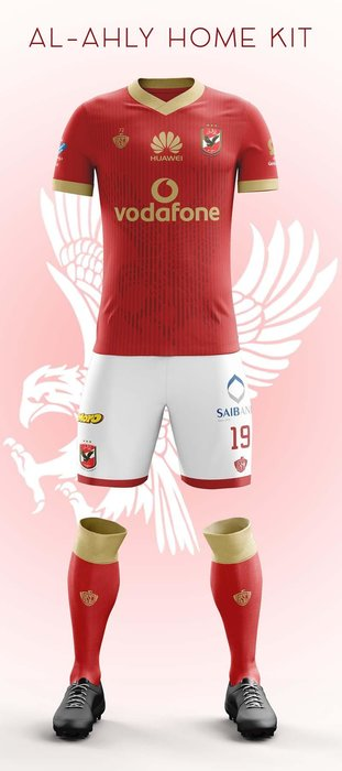 Al Ahly (Egypt) - As football nerds, we're always happy to see kits produced by smaller manufacturers. This classic red, with white v-neck trim was created by Sporta, a Saudi-based company. The addition of gold for this year's kit seems fitting for Al Ahly, seeing as they are the most successful Arab club.