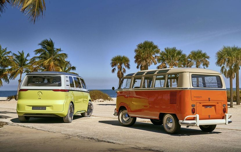 Volkswagen, I.D.Buzz, Microbus, Electric car, Wireless-charged vehicles