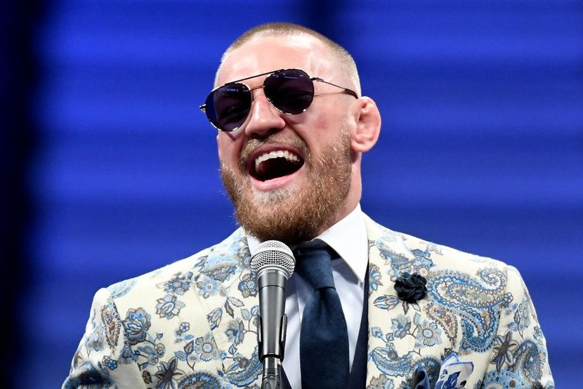 LAS VEGAS NV  AUGUST 26  Conor McGregor speaks during a news conference after his loss to Floyd Mayweather Jr by 10thround TKO in their super welterweight boxing match on August 26 2017 at TMobile Arena in Las Vegas Nevada  Photo by Ethan MillerGetty Images