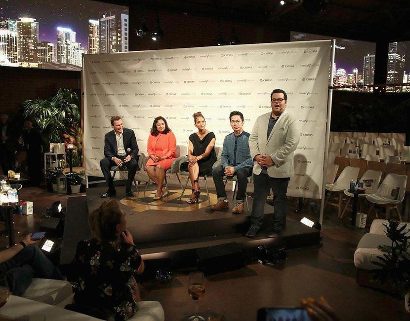 Josh Gad presents the Chivas Venture finals in Los Angeles
