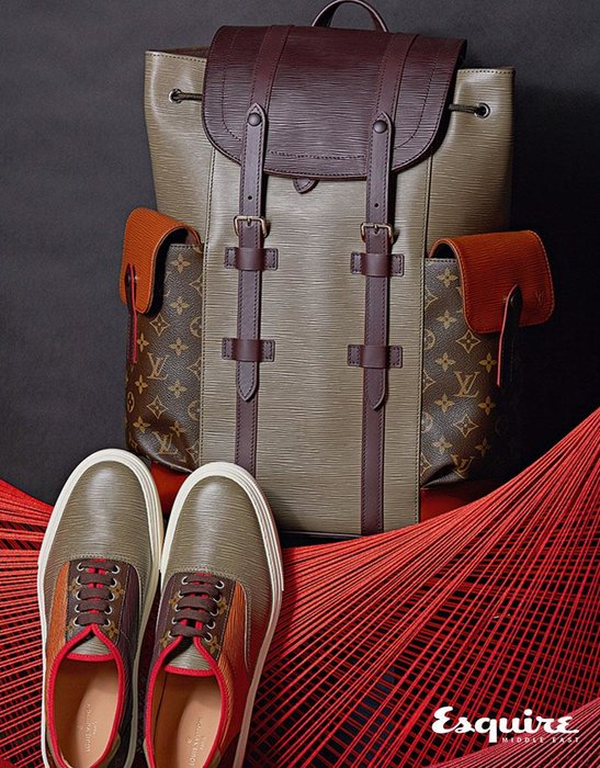 Christopher Backpack, Trocadero Sneakers. All Louis Vuitton