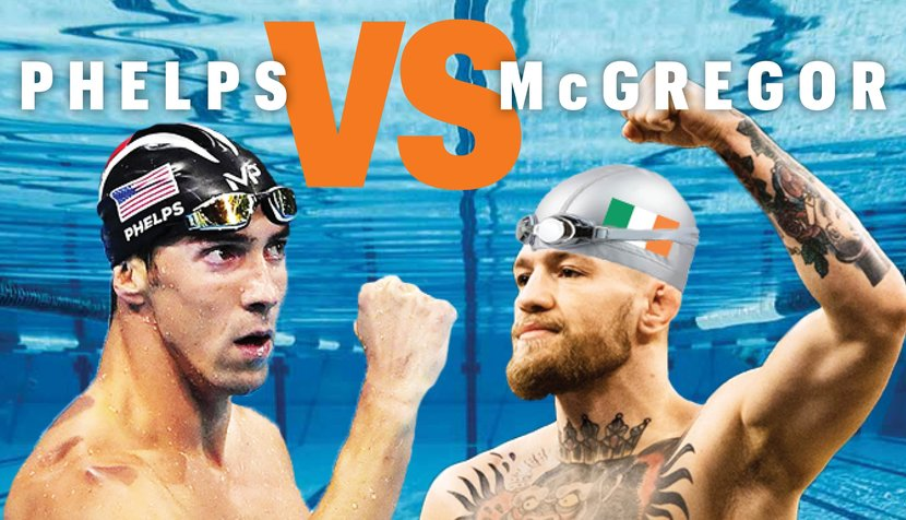 Michael Phelps, Connor McGregor, Conor McGregor, Sports, Swimming, MMA, Dubai, Dubai Mall, UnderArmour