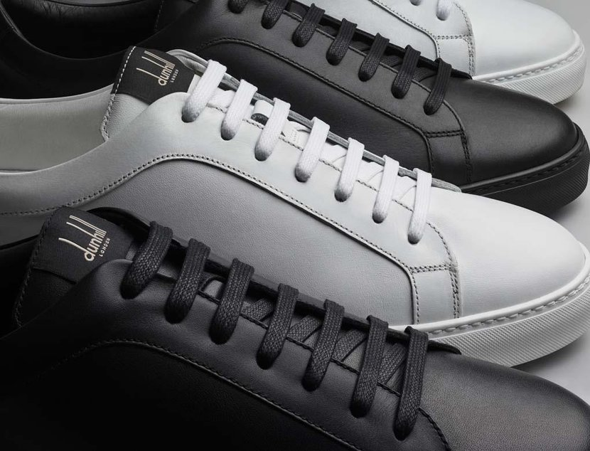 These are Dunhill's first ever tennis shoes